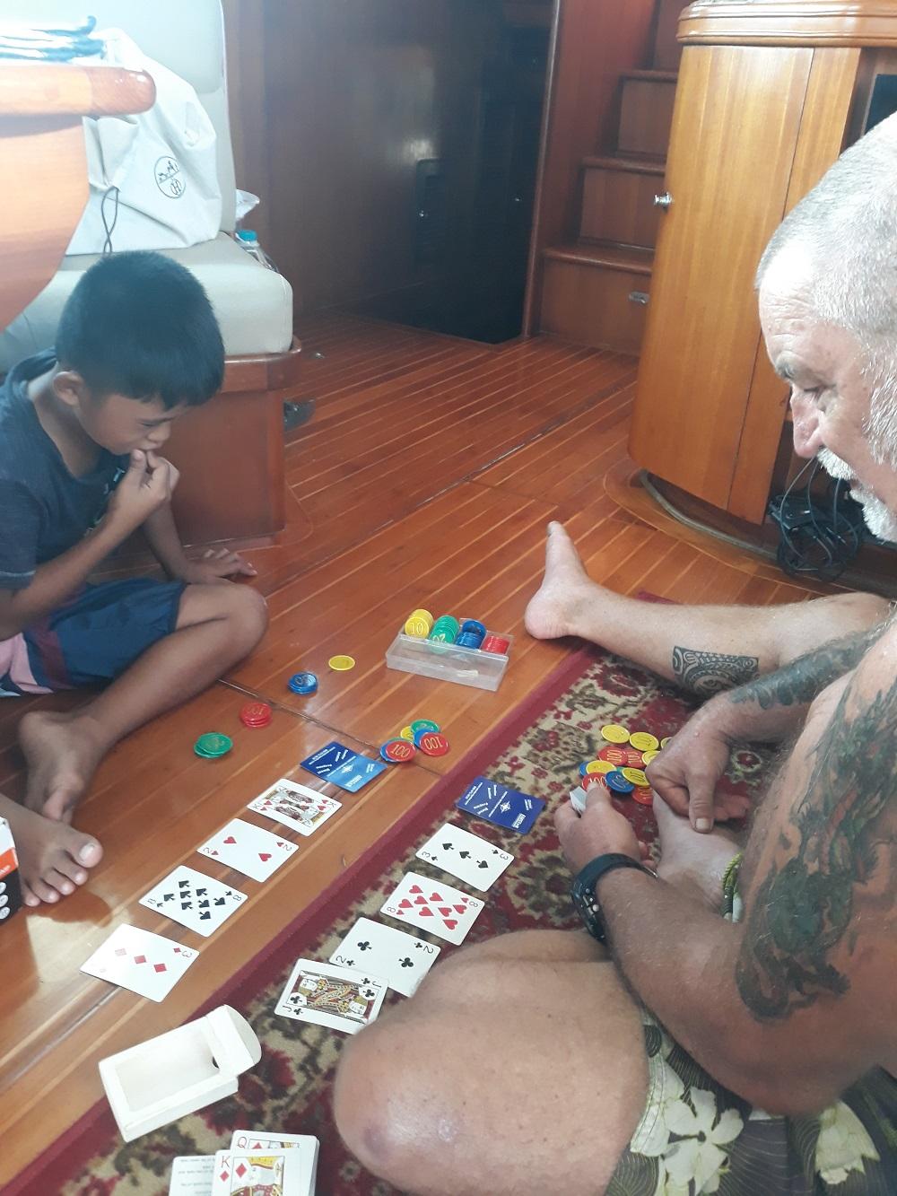 teaching Priam to play poker